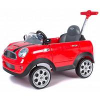 Каталка-автомобиль MINI COOPER с музыкой, родительской ручкой