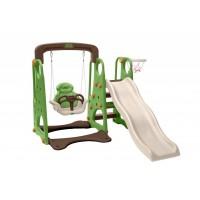 Детская горка + качели «Жук» (Зеленый)