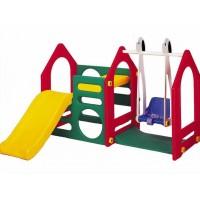 Игровой центр Дом горка + качели Haenim toy
